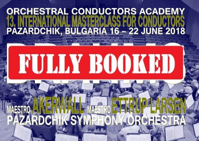 Masterclass 16 – 22 June 2018 Bulgaria