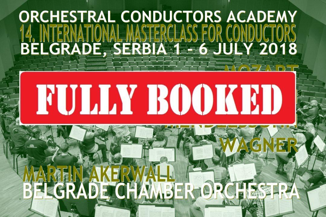 Masterclass 1 July – 7 July 2018 Belgrade