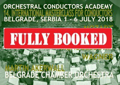 Masterclass 1 July – 7 July 2018 Belgrade